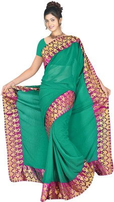 MGS Self Design Fashion Chiffon Sari