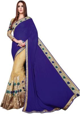 Manish Creation Embellished, Embriodered, Self Design Fashion Chiffon Sari