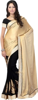Kenil Fabrics Embriodered Bollywood Satin Sari