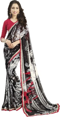 Myntas DXL Graphic Print Fashion Georgette Sari