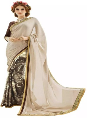 Jhumri Printed Bollywood Pure Georgette Sari