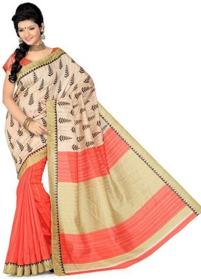 Lolla Fashion Printed Bhagalpuri Handloom Silk Sari