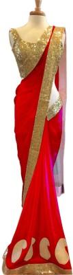 TrynGet Embellished Fashion Handloom Net Sari