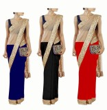 Stylezone Self Design Fashion Chiffon Sa...