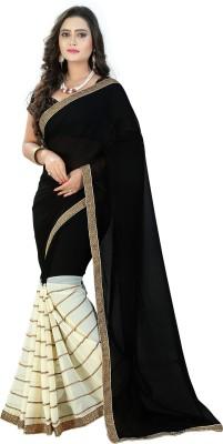 Priyanshu Creation Applique Fashion Pure Georgette Sari