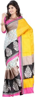 Chandramoulifashion Printed Bhagalpuri Silk Sari