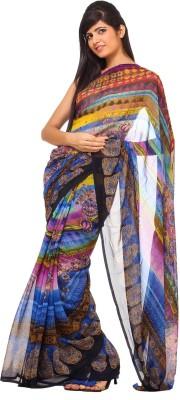 365 Labels Printed Fashion Georgette Sari