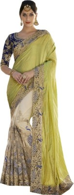 Snreks Collection Embriodered Fashion Georgette, Net Sari
