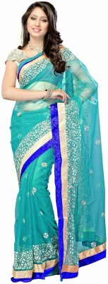 Thelibazz Embriodered Fashion Net Sari