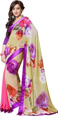 Shoponbit Printed Bollywood Georgette Sari
