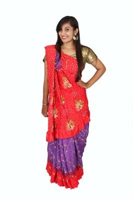 Kajci Woven Bandhani Handloom Silk Sari