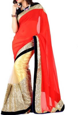 Parmar Design Self Design Bollywood Net, Georgette Sari
