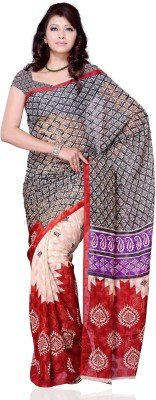 Diva Fashion Geometric Print Daily Wear Jacquard Sari