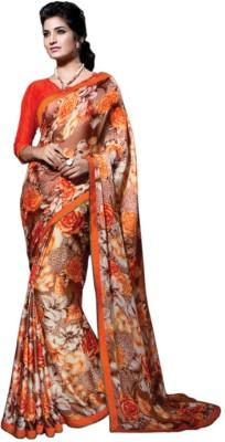 Meera Fashion Printed Fashion Georgette Sari