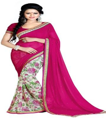 SHS Printed Bollywood Georgette Sari