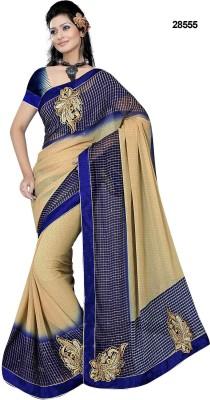 SHRADDHA PRINTS Embriodered Bollywood Chiffon Sari