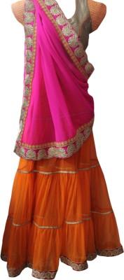 ahujaenterprise Embriodered Bollywood Net Sari