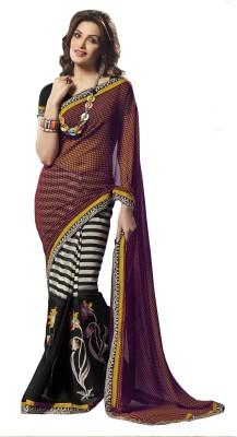 Sanjewga Collection Geometric Print Bollywood Chiffon Sari
