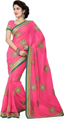 Ayushi Apparel's Embriodered Bollywood Georgette Sari
