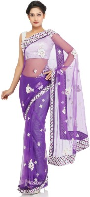 Chhabra 555 Self Design Fashion Net Sari