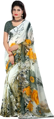 SaiArisha Floral Print Fashion Georgette Sari