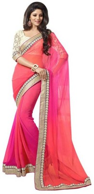 BT Fashion Self Design Fashion Georgette Sari