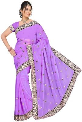Chinco Self Design Fashion Chiffon Sari