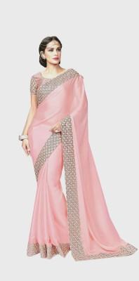 NARGIS FASHION Embriodered Fashion Satin Sari