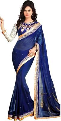 Festive Embriodered Bollywood Handloom Chiffon Sari