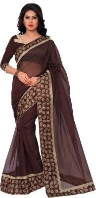 Sarvagny Clothing Solid, Floral Print Bollywood Art Silk Sari