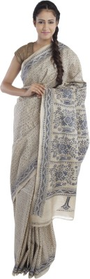 Kiara Crafts Embriodered Kantha Handloom Tussar Silk Sari