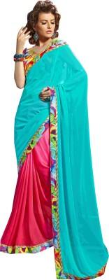 Saroj Sarees Printed Bollywood Georgette Sari