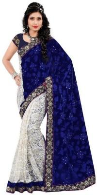 SMARTLOOK Embriodered Fashion Velvet Sari