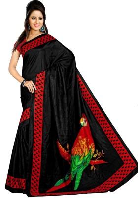 Kunal Self Design, Graphic Print Bollywood Art Silk Sari