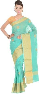Kdc Sarees Embriodered Banarasi Cotton Sari