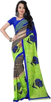 VardhitaFashion Printed Daily Wear Georgette Sari