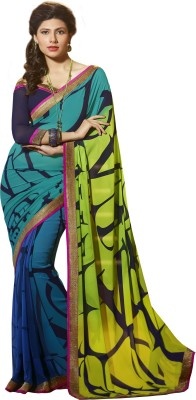 Jambudi Creation Printed Fashion Crepe Sari