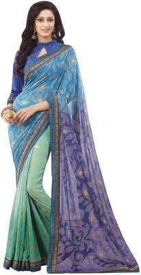 Rajshrifashions Embriodered Lugade Brasso Sari