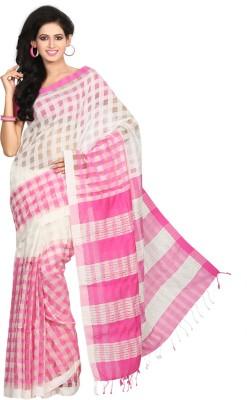 Crochetin Self Design Fashion Handloom Silk, Cotton Sari