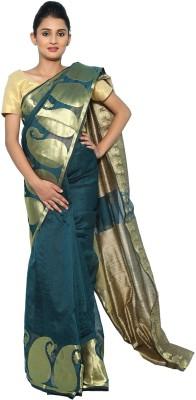 Aabeer Self Design Banarasi Cotton Sari