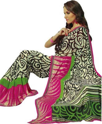Radhika Sarees Printed Fashion Satin Sari