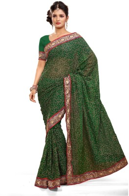 Preeti Solid Bollywood Chiffon Sari