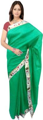 SRK GROUPS Plain Fashion Polycotton Sari