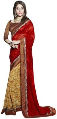 The Ethnic Chic Printed Fashion Georgette Sari
