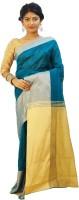 Rudrakshhh Solid Jamdani Handloom Chiffon Sari(Multicolor)
