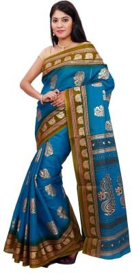 Chandans Animal Print Chanderi Cotton Linen Blend Sari