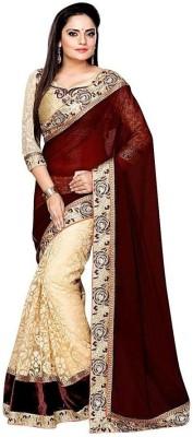 Om Shantam Saree's Plain Bollywood Georgette Sari