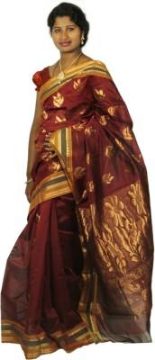Roopascollection Printed Fashion Silk Cotton Blend Sari