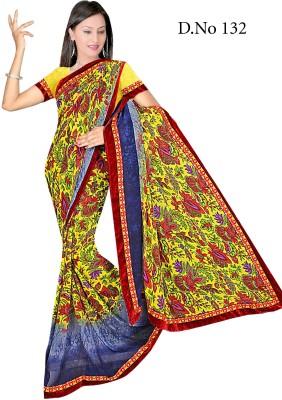 Aishwarya Floral Print Fashion Synthetic Fabric Sari