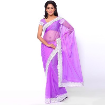 Ziyaa Striped Daily Wear Net Sari